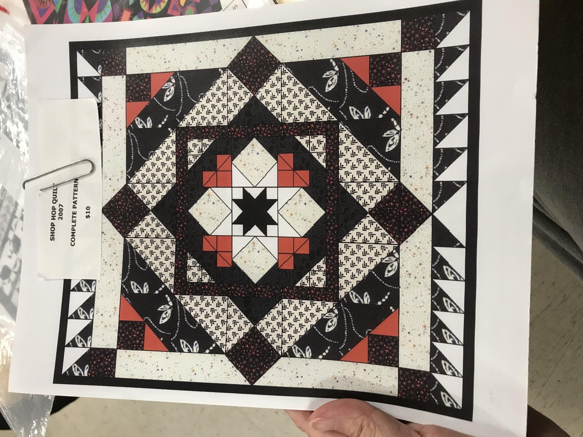 2007 Shop Hop Quilt Pattern