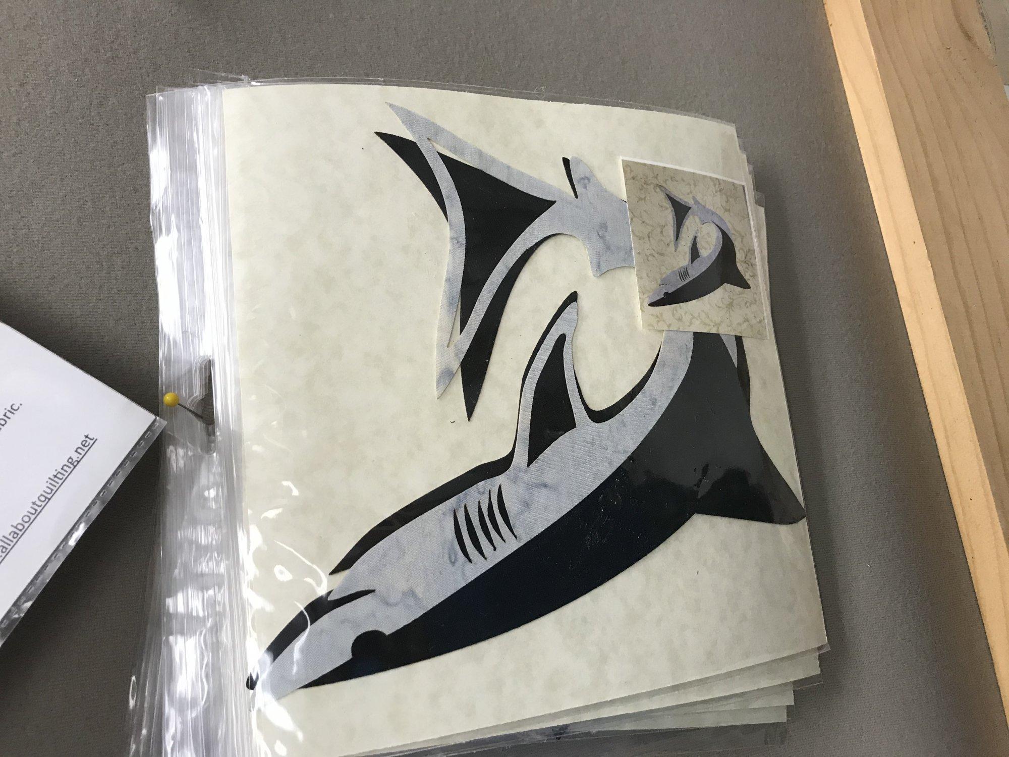 Applique Designs - Laser Cut and Pre Fused - SHARK