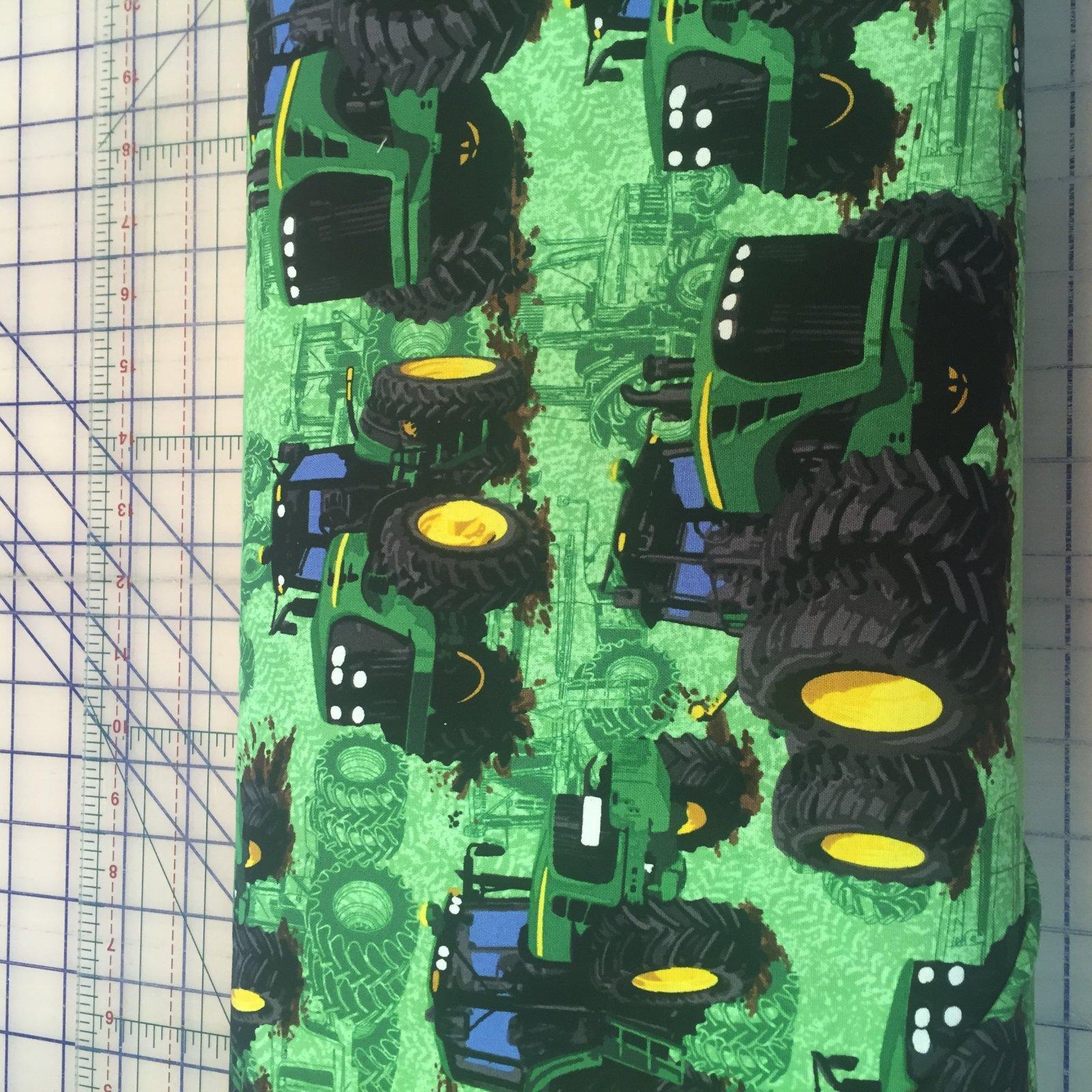 John Deere Tractor on Green