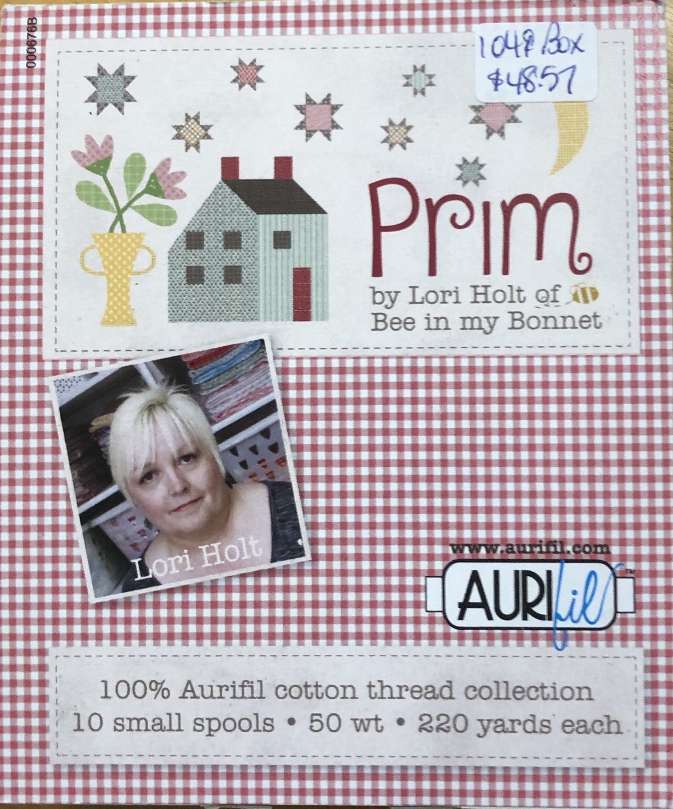 PRIM BY LORI HOLT FOR AURIFIL 10 SMALL SPOOLS OF 50 WT 2840 1140 1126 2265 2440 2845 6730 5006 2225 2132