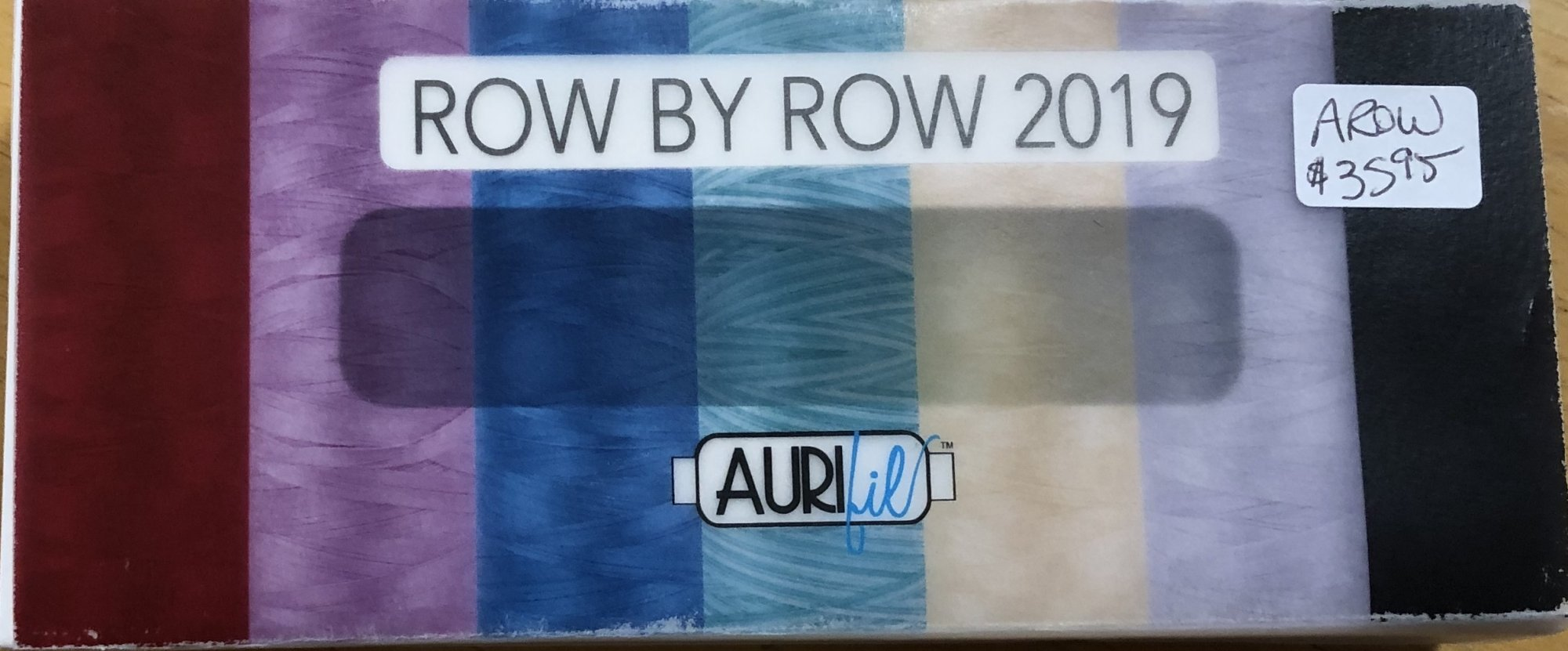 ROW BY ROW 2019 BY AURIFIL 7 SMALL SPOOLS 50 WT 2692 2600 2110 4654 1320 2515 2250