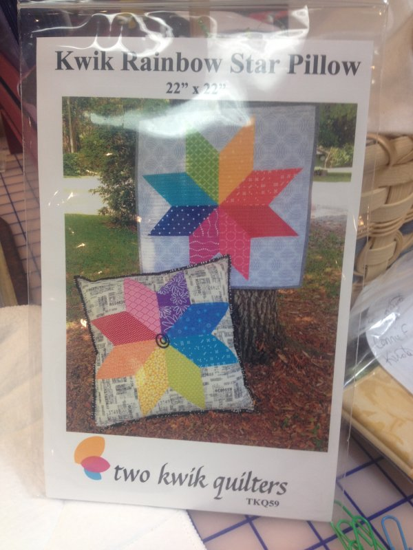 Kwik Rainbow Star Pillow - DISCONTINUING WHEN CURRENT STOCK OUT