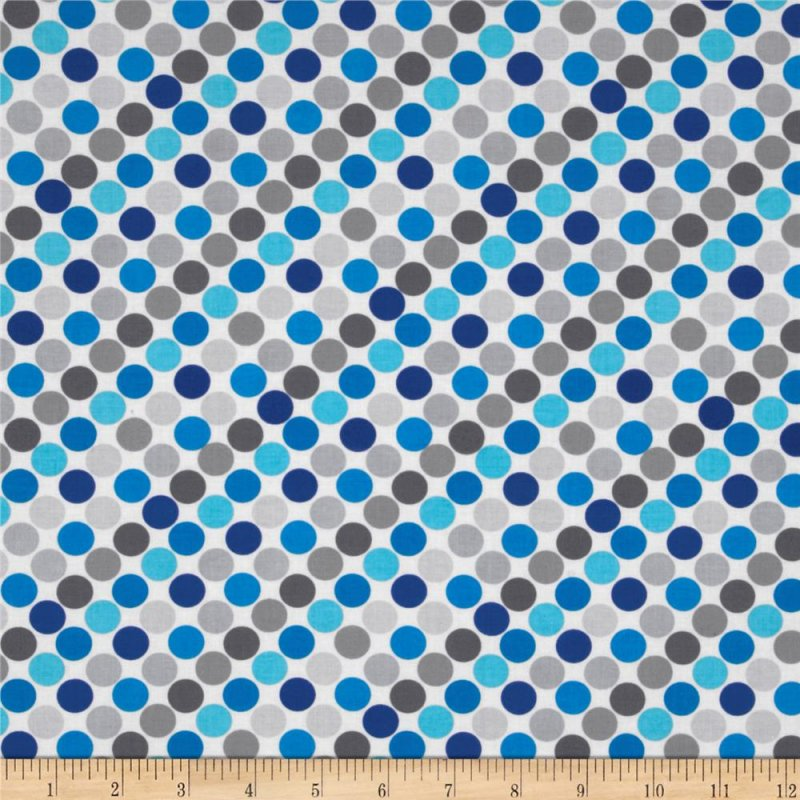Sapphire - dots on grey background