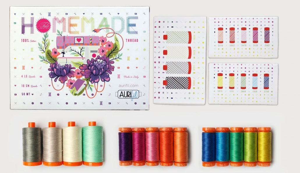 Homemade by Tula Pink Aurifil 50wt thread collection