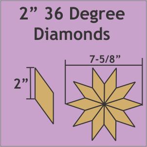 2 36 Degree Diamonds