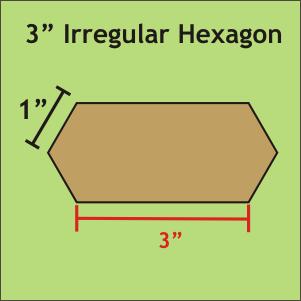 3 Irregular Hexagon
