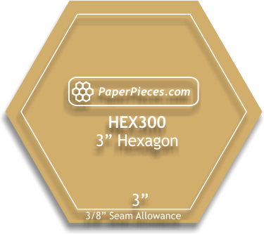 3 Hexagon Template
