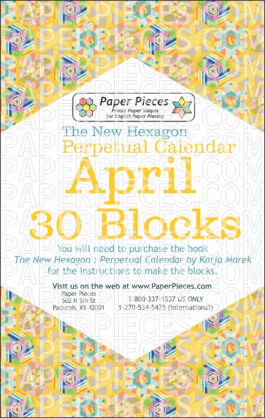 April Blocks - Paper Pieces