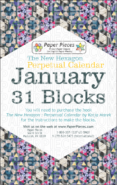 January Blocks - Paper Pieces