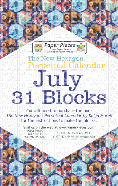 July Blocks - Paper Pieces
