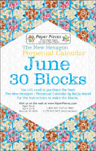 June Blocks - Paper Pieces