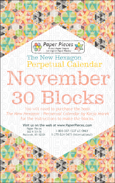 November Blocks - Paper Pieces
