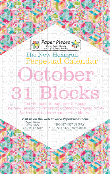 October Blocks - Paper Pieces