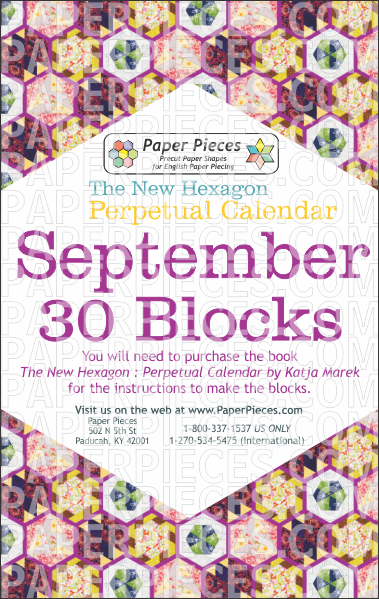 September Blocks - Paper Pieces