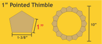 1 Pointed Thimble