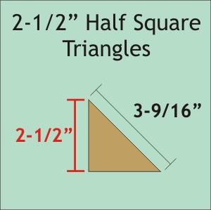 2 1/2 Half Square