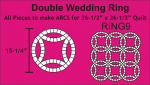 Double Wedding Ring, large pack