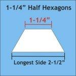 1-1/4 Half Hexagon