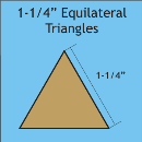 1-1/4 Equilateral Triangle