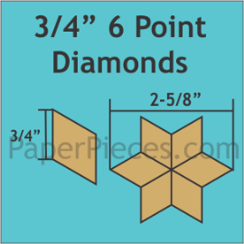 3/4 6 Point Diamond