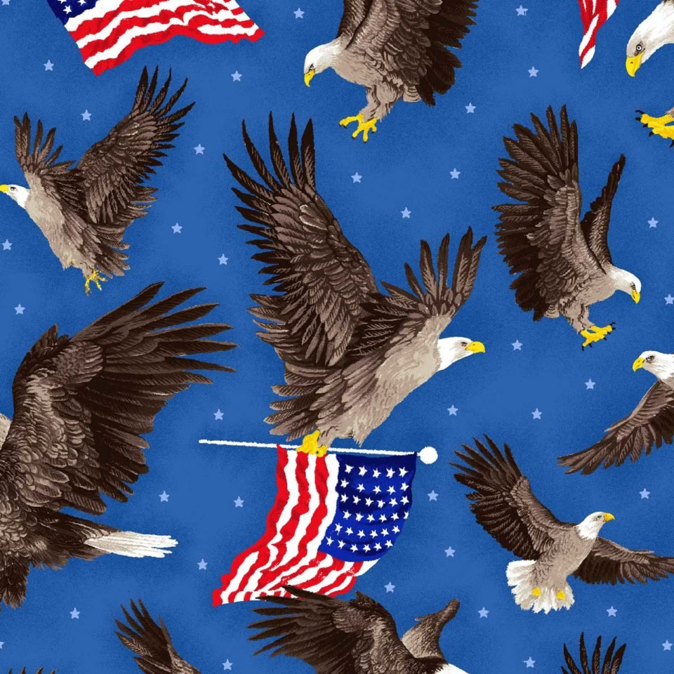 American Eagles and Flags 4293