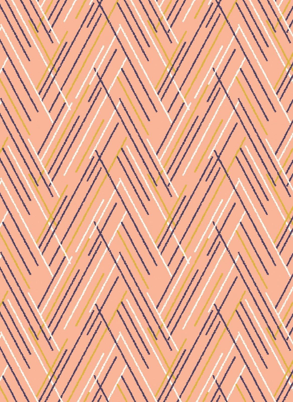 Autumn Rain Pink Chervon 4269