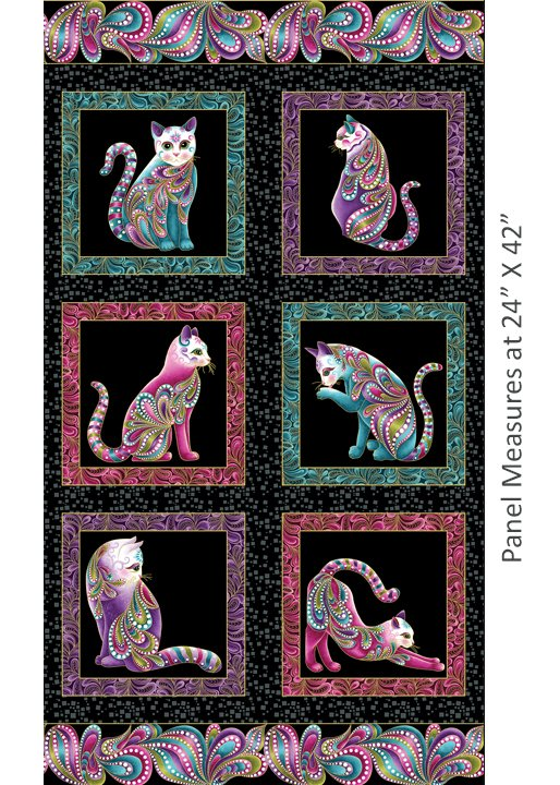 Catitude 2 Purrfect Panel Black multi