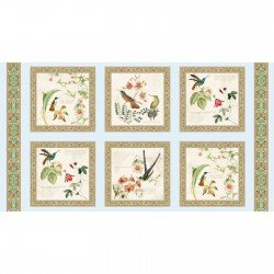 Hummingbirds Panel Cream