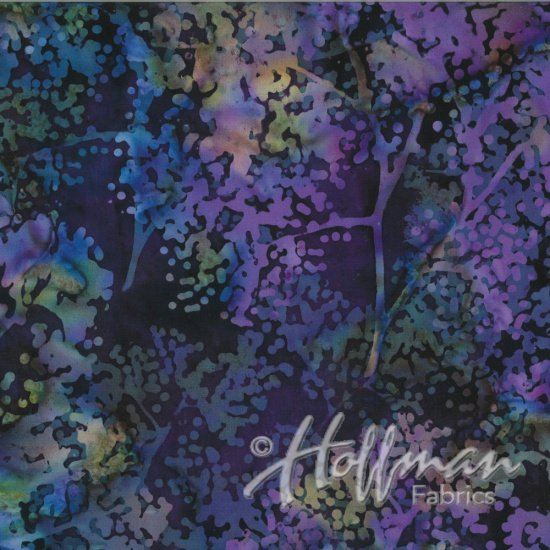 Bali Batik Floral Mix New Grape 4387
