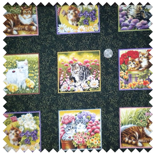 Furry Friends 4 inch square cats