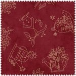 A Quilter's Garden Tossed Stitched Red 2407
