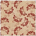 A Quilter's Garden Butterfly Tan/red 2408