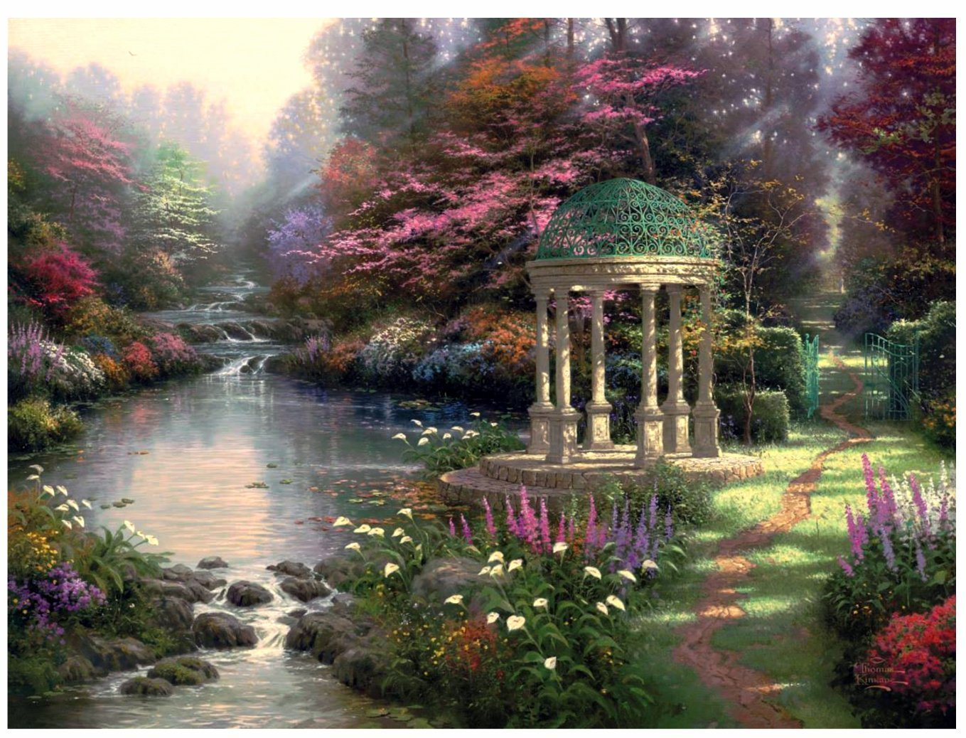 Garden of Prayer by Thomas Kinkade