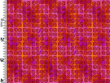 Rainbow Garden II - Red Squares 3316