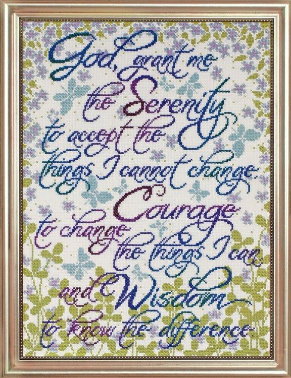 # 2814 Serenity Prayer Floral