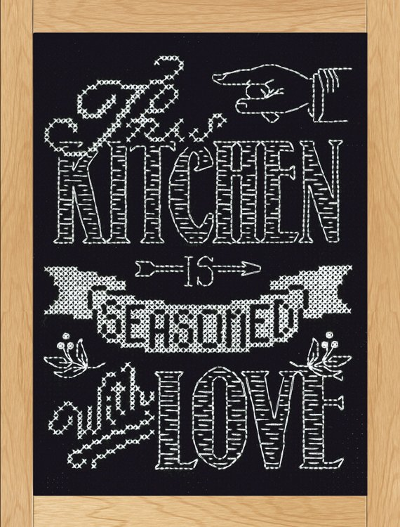 # 2885 - Kitchen Chalkboard