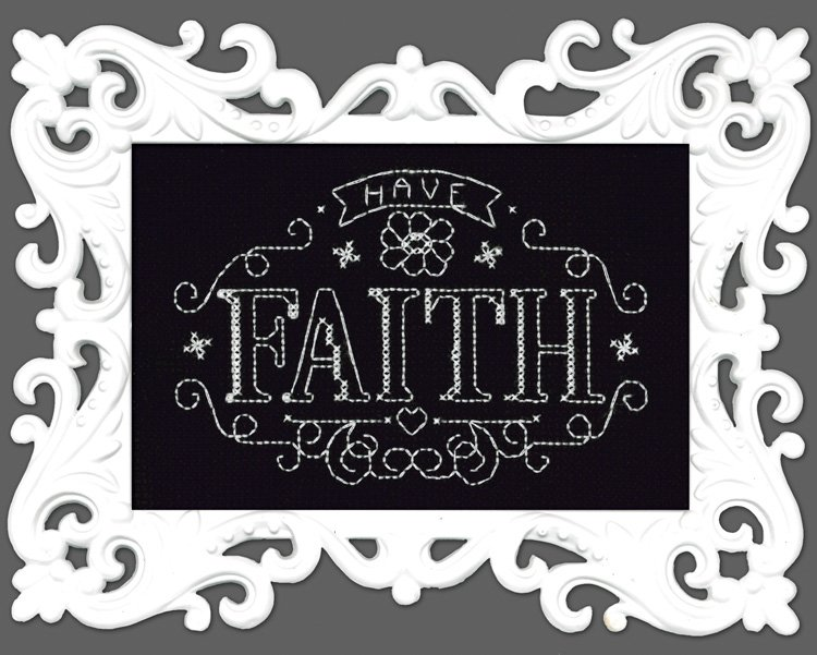 # 2892 - Have Faith Chalkboard
