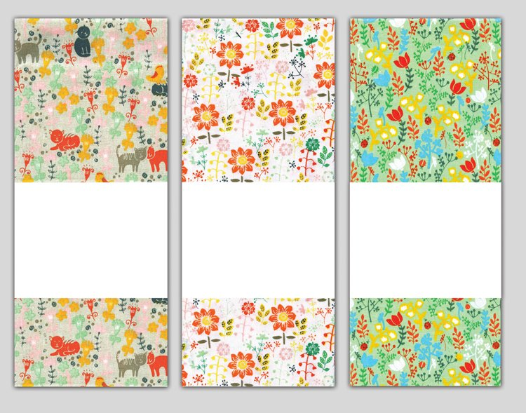 # 3069 Cat Floral Towel Trio
