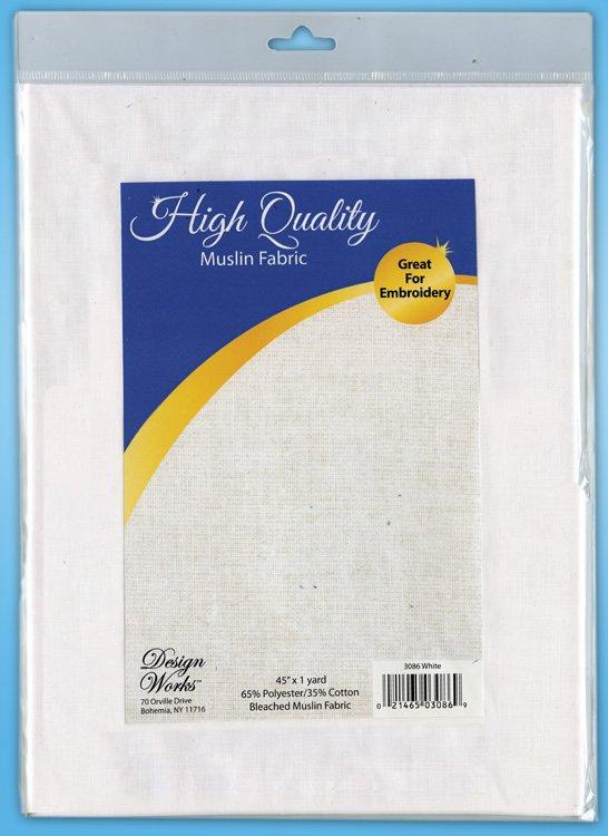 # 3086 - Bleached Muslin 1 Yard (White)