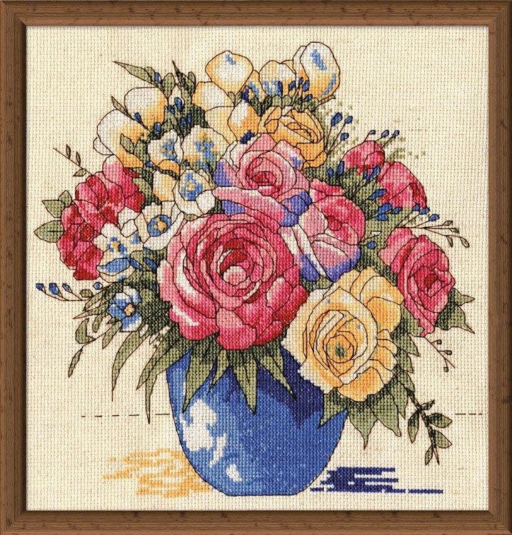 # 3248 Pastel Floral Vase