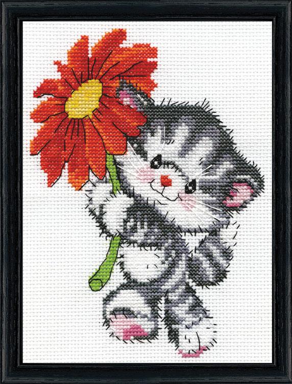 # 3458 Red Daisy Cat