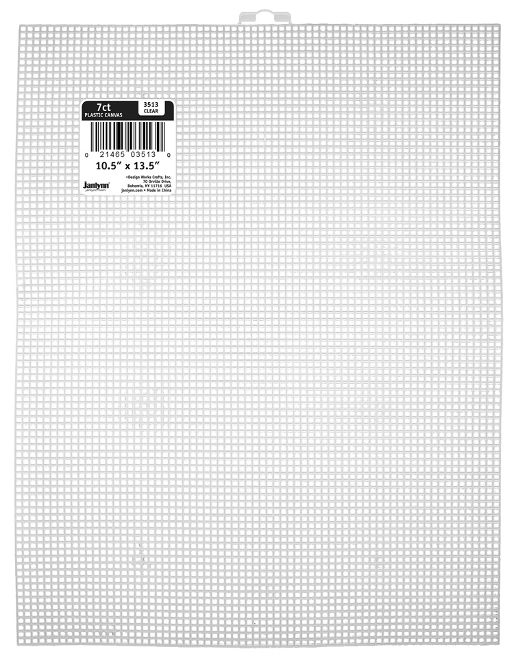 # 3513 - 7 Count Plastic Canvas Sheet - CLEAR