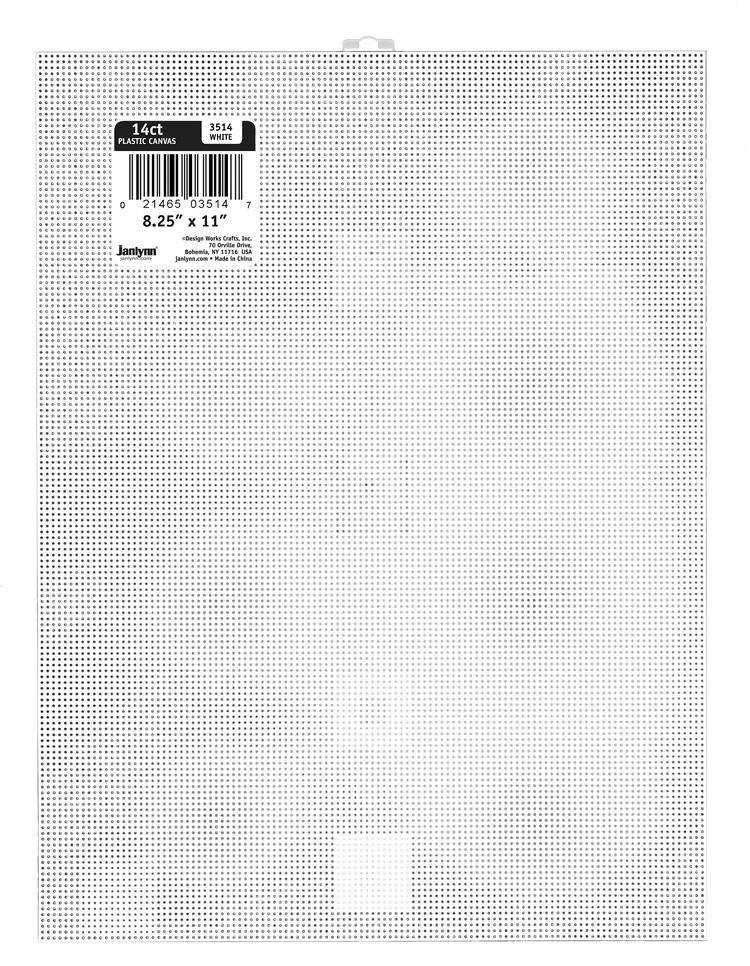 # 3514 - 14 Count Plastic Canvas Sheet - WHITE