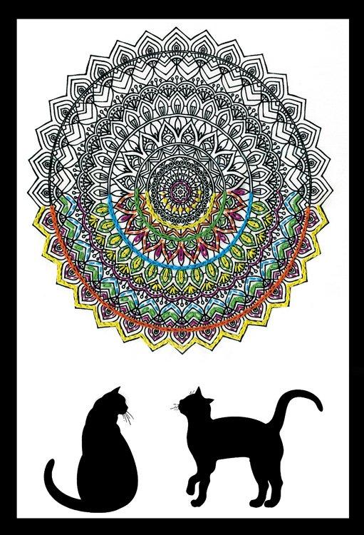 # 4002 Zenbroidery Cat Mandala