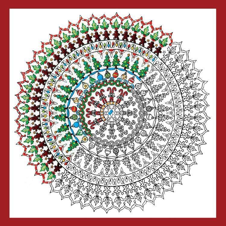 # 4028 Zenbroidery Christmas Mandala