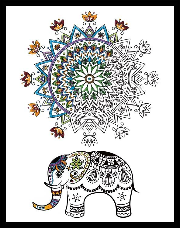 # 4035 Elephant Mandala