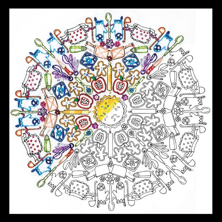 # 4050 Zenbroidery Kitchen Mandala