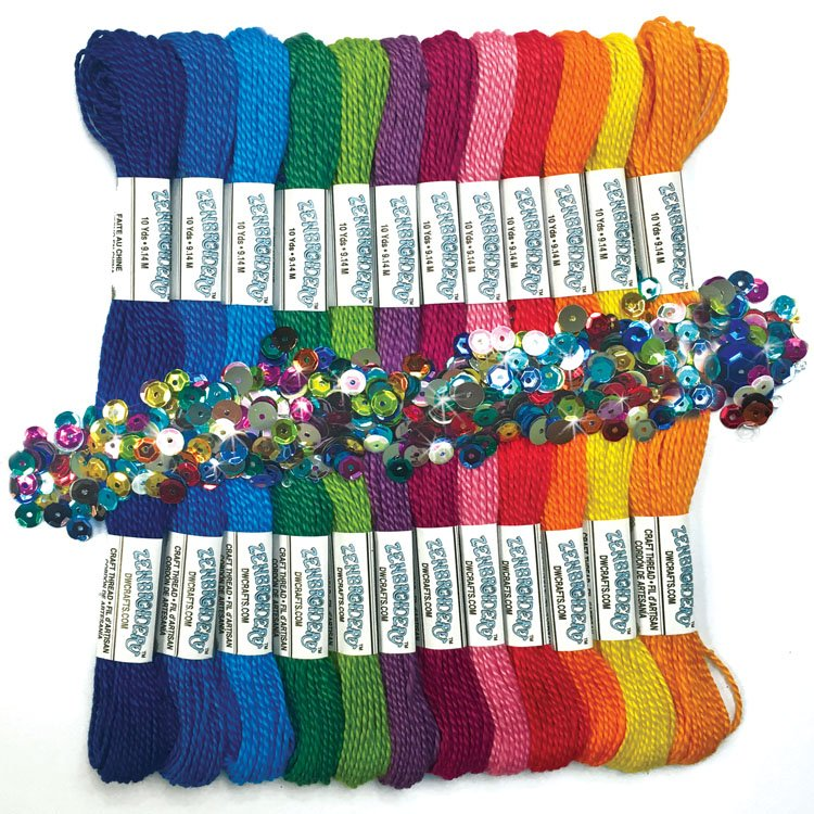 # 4060 Zenbroidery Rainbow Cord Pack (12)