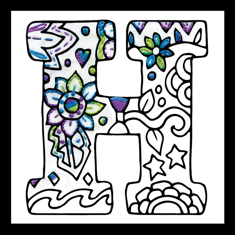 # 4069 Zenbroidery Letter H