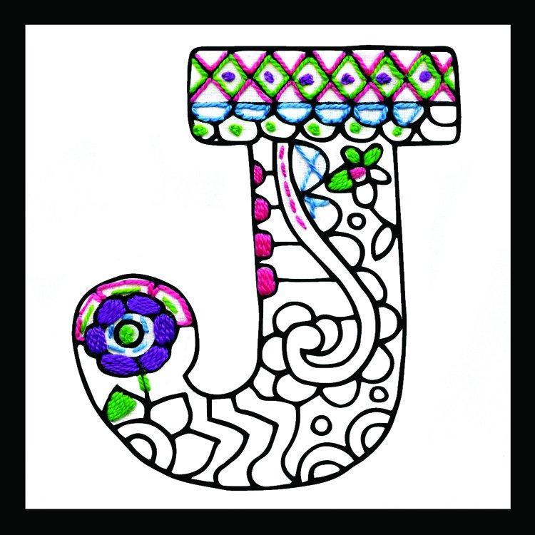 # 4071 Zenbroidery Letter J